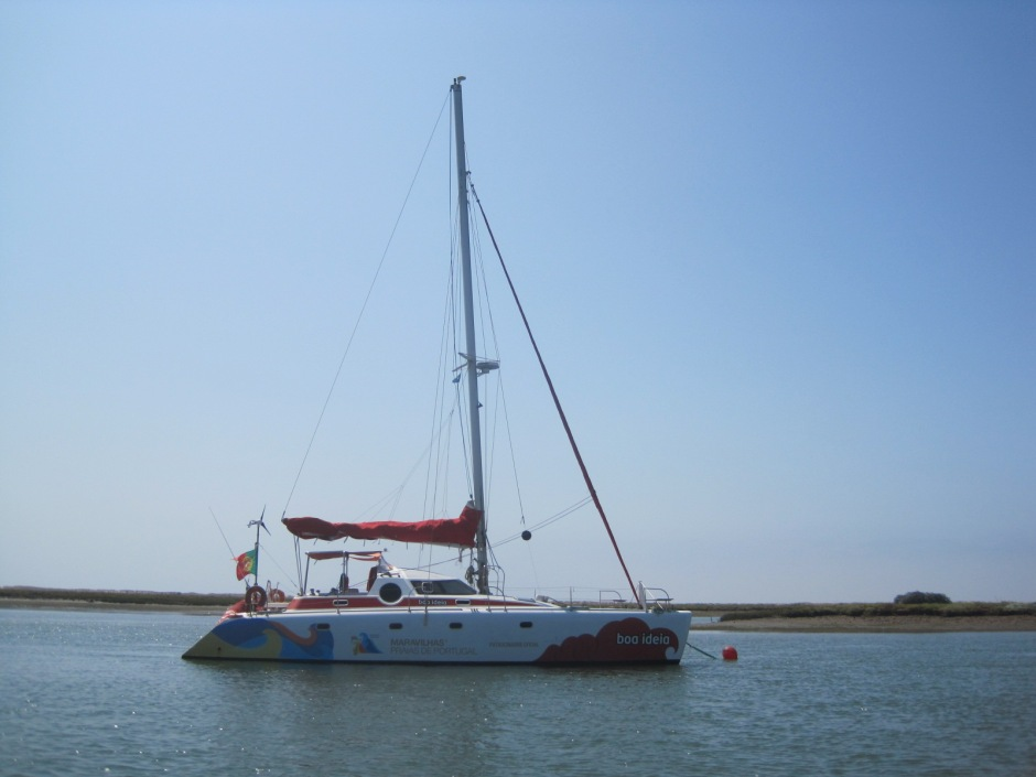 And a catamaran