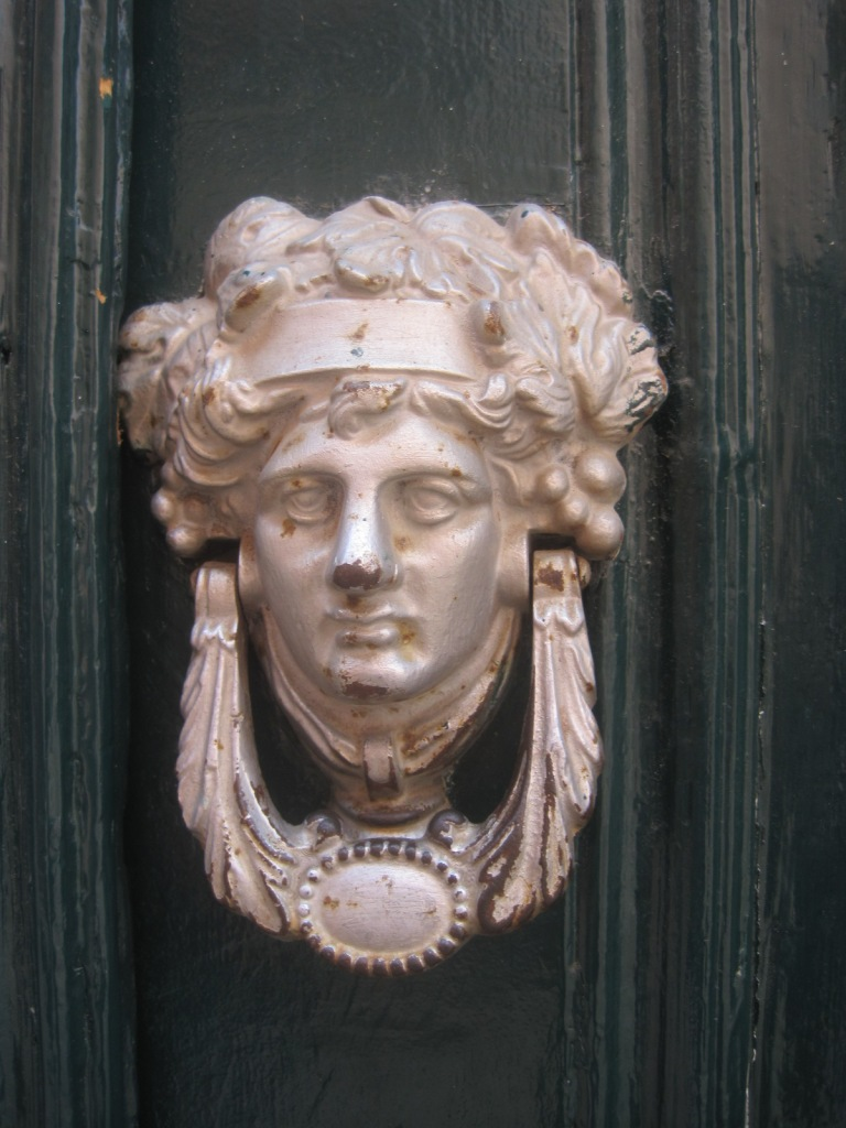 I've rarely seen a more extravagant door knocker