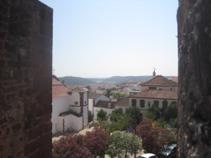 The town from the castle walls