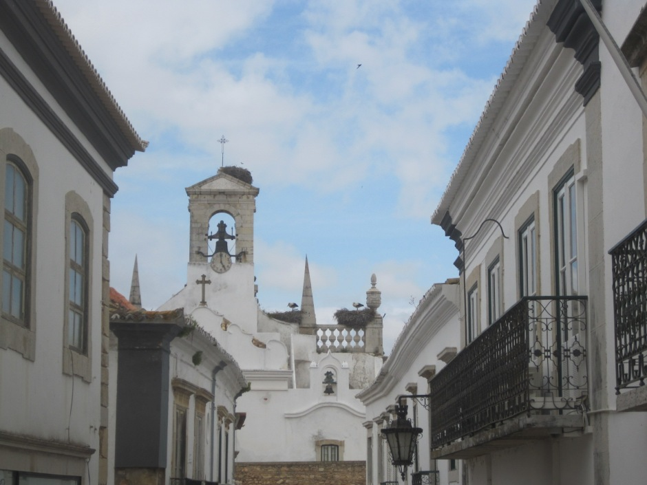 The storks in Faro old town