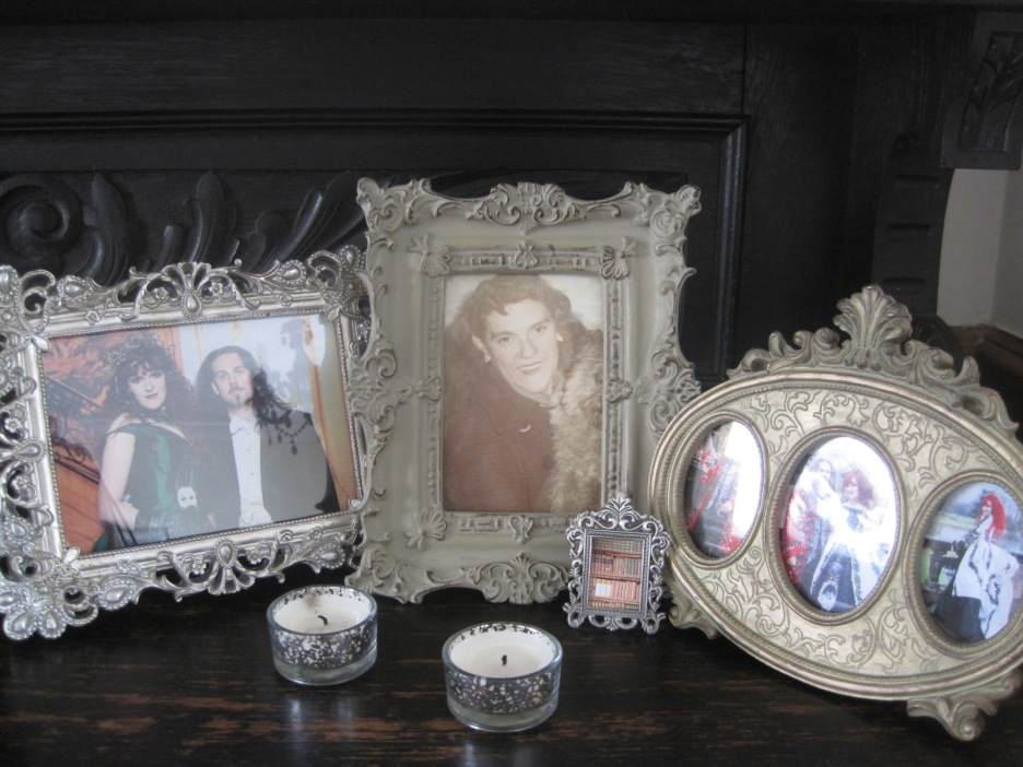 And the photos on the sideboard. That's Mam in the middle.