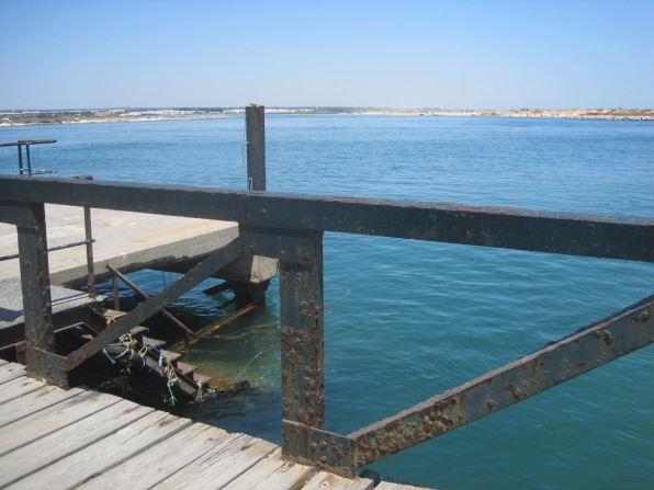 The ferry point on Tavira Island