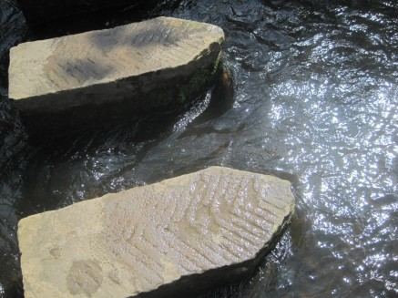 And, of course, those stepping stones.