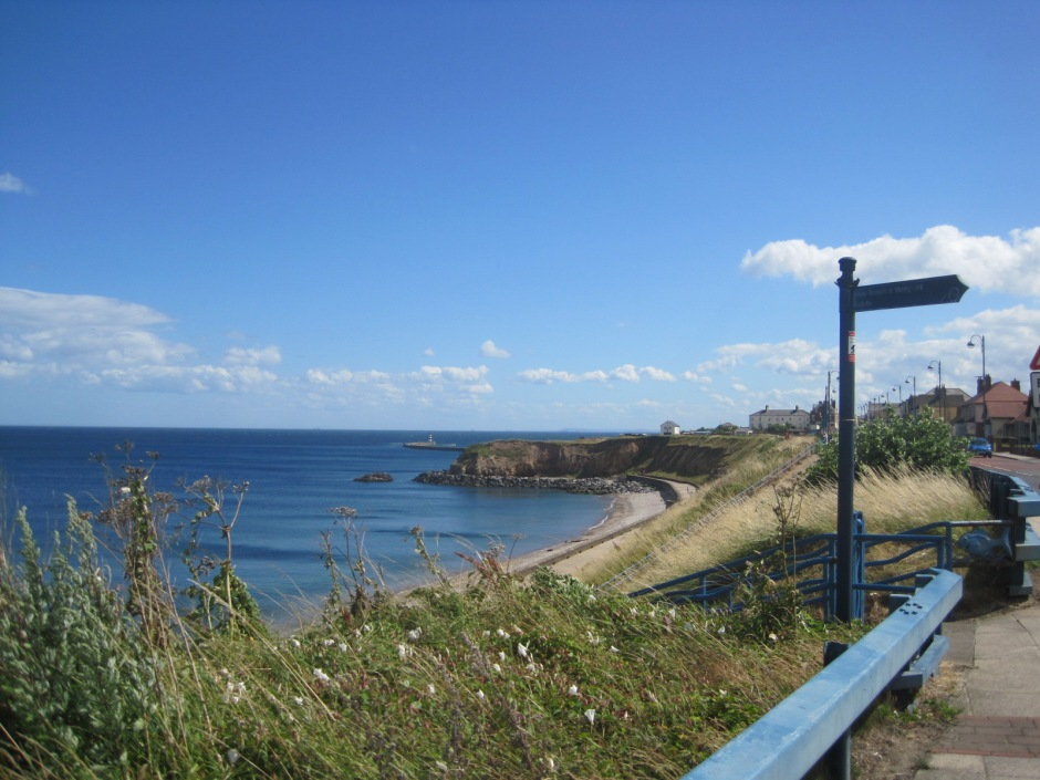 You can walk along the cliff top, or the beachside walk