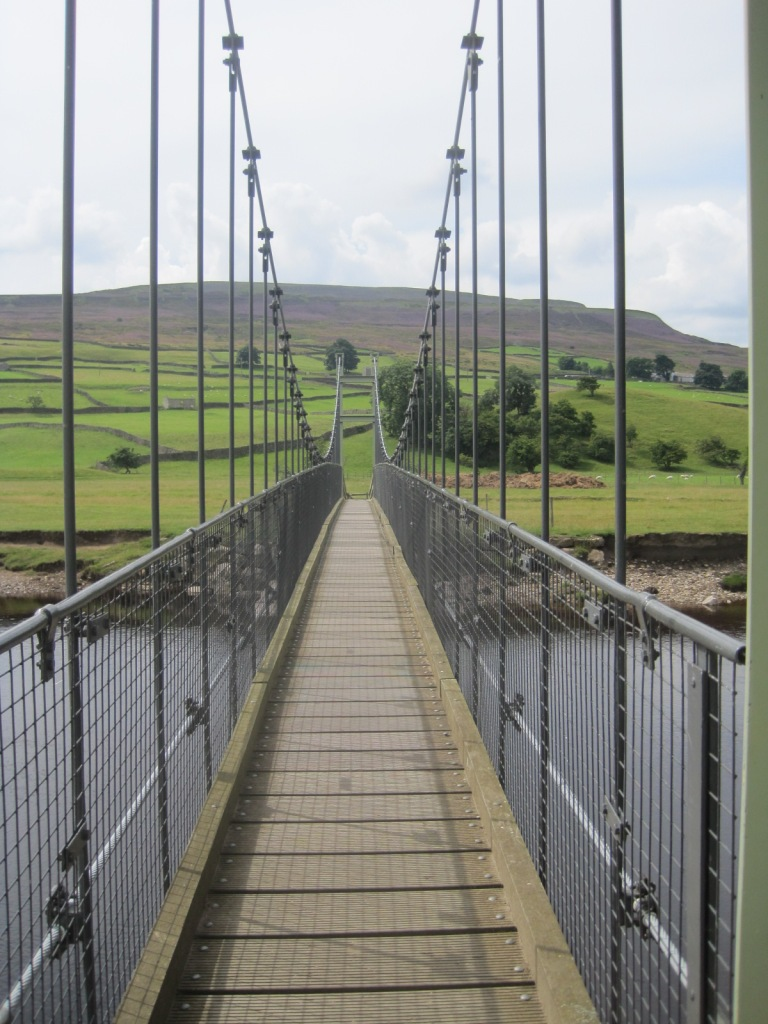 The swing bridge at Reeth in the Yorkshire Dales