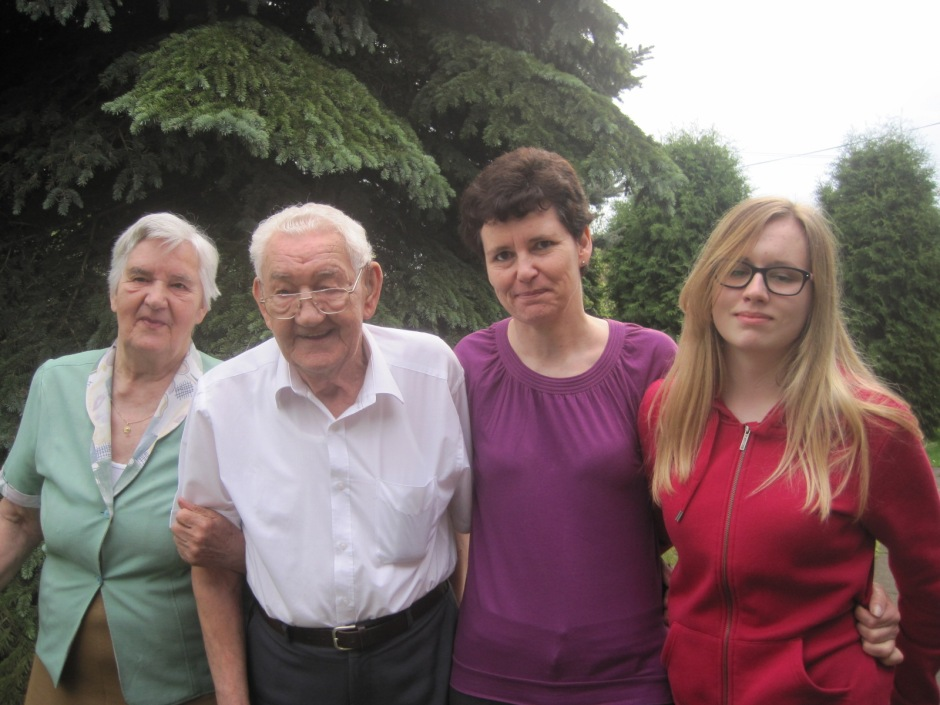 Lusia and Dad with Teresa and Edyta