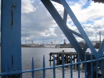 Looking out across the Tees.