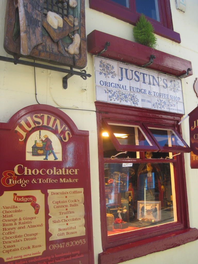 Justin's Chocolatier has a sumptuous window