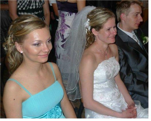 Kasia as bridesmaid at Ania's (Jadzia's daughter) wedding