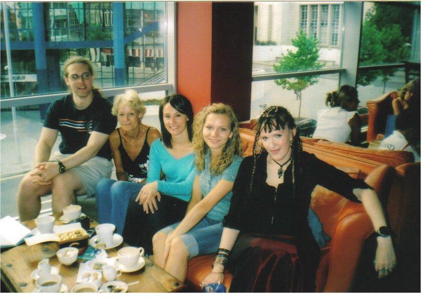 Lisa, Kasia, friend Paulina, me and Leo, in Nottingham