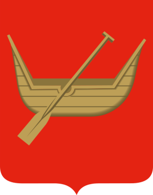 A boat, the coat of arms of Łódź- from Wikipedia