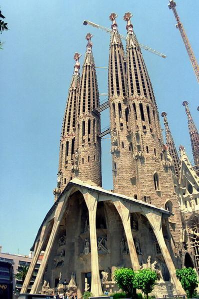 The iconic Sagrada Familia- with grateful thanks to Wikipedai