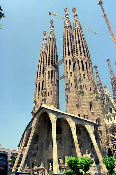 The iconic Sagrada Familia- with grateful thanks to Wikipedai