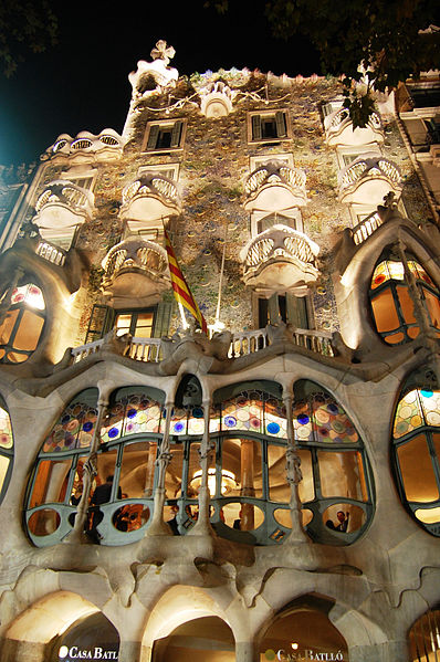 Total fantasy!  Casa Batlo- courtesy of Wikipedia.