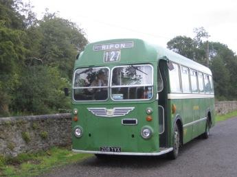 A vintage bus in Wensleydale