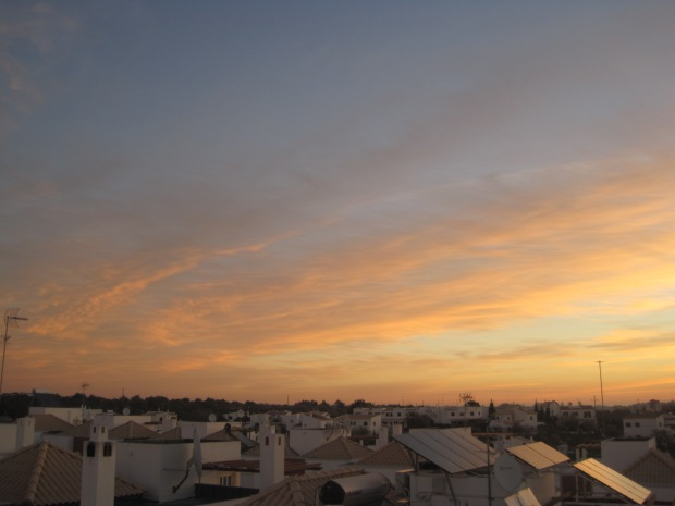 Liquid gold skies on our rooftop