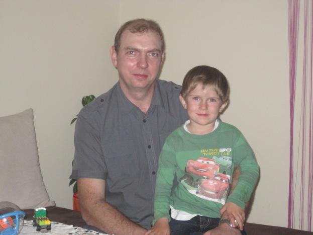 Piotrek with Dad, Krzystof