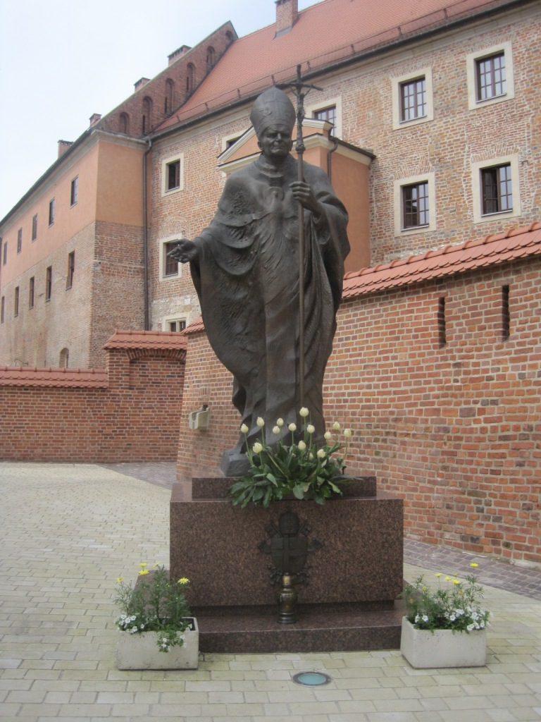 Beside Wawel Castle in Kraków