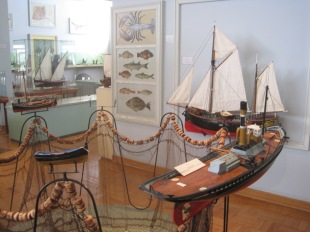 Displays in the Maritime museum