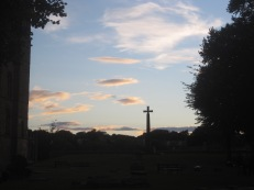 Finally, the lengthening shadows of evening.