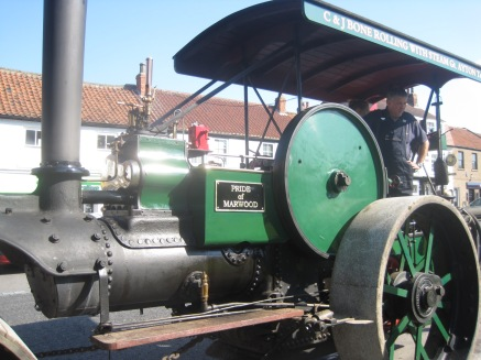Steam traction in Great Ayton village, North Yorkshire