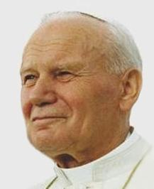 Pope John Paul II in 1993- courtesy of Wikipedia