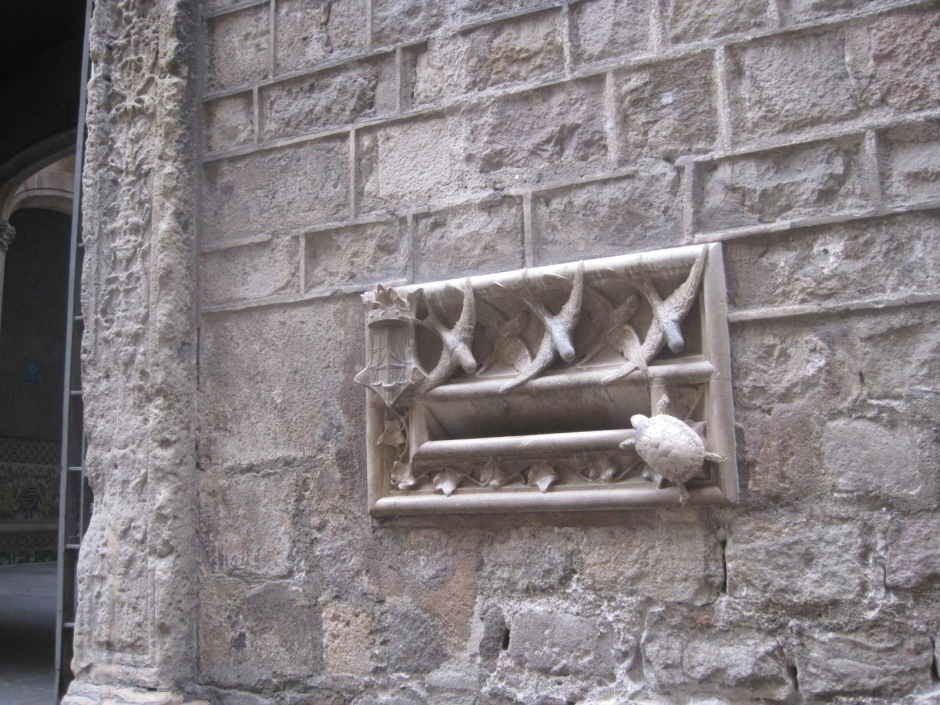 The Archdeacon's letterbox- stroke the turtle for luck!