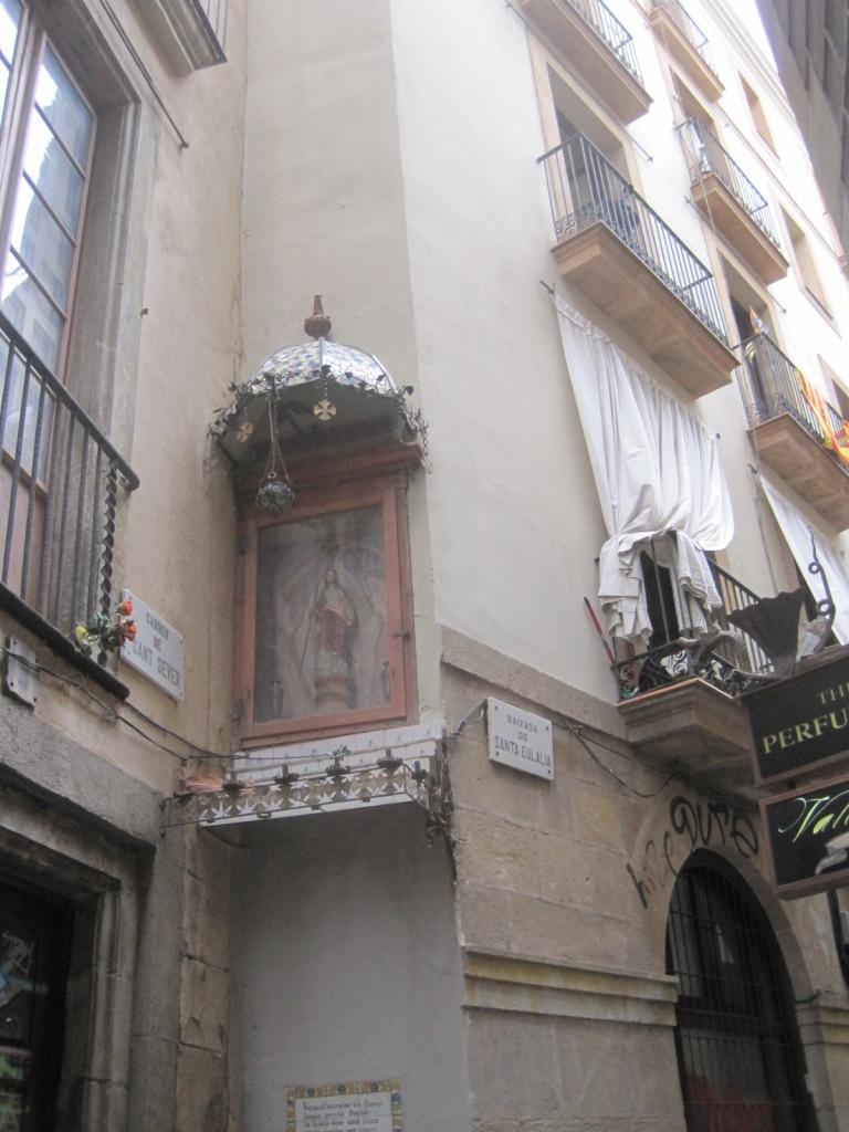 The shrine to Santa Eulalia