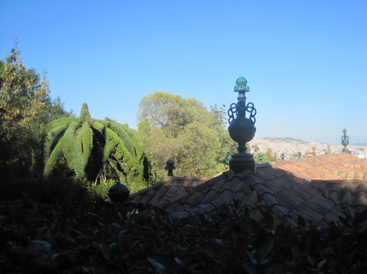 In the gardens of Laribal, on Monjuic.