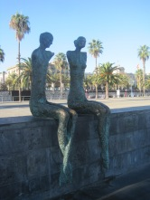 Past this armless, but rather endearing couple, on Passeig de Colom