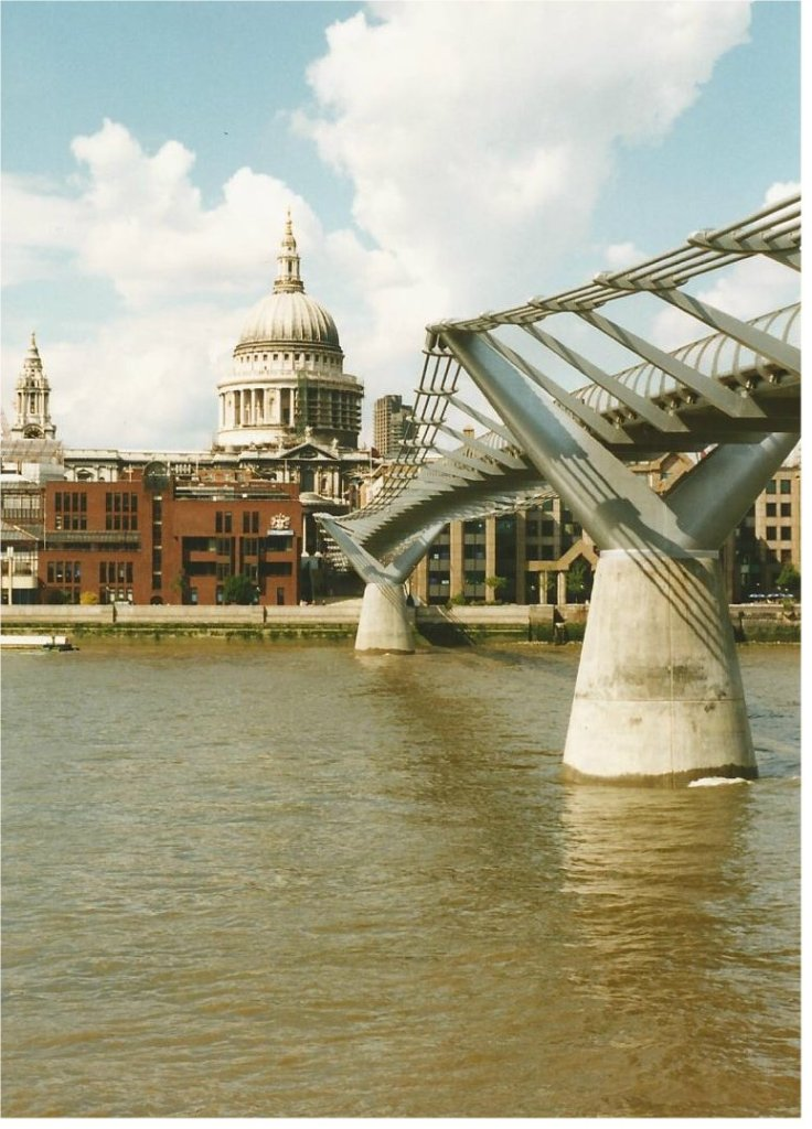 St. Paul's Cathedral and the Millennium Bridge- courtesy of Mike Bradley