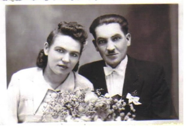 Ursula, with her husband, Ignacy