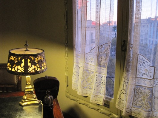 And in Casa Mila, the romance of a curtained window