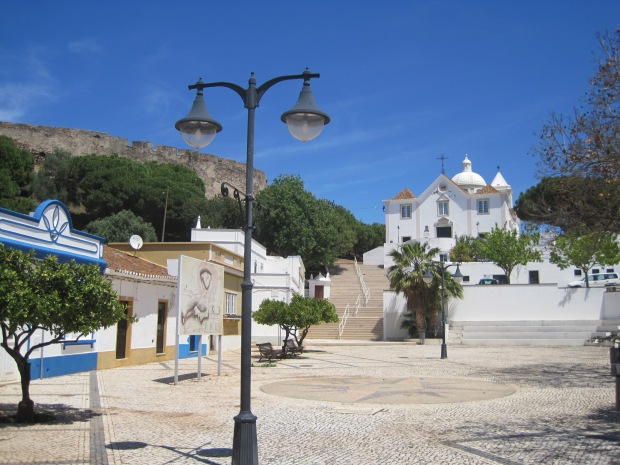 The castle walls and main church of Castro Marim