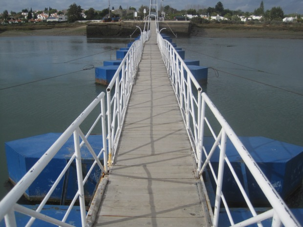 And a pontoon bridge like this