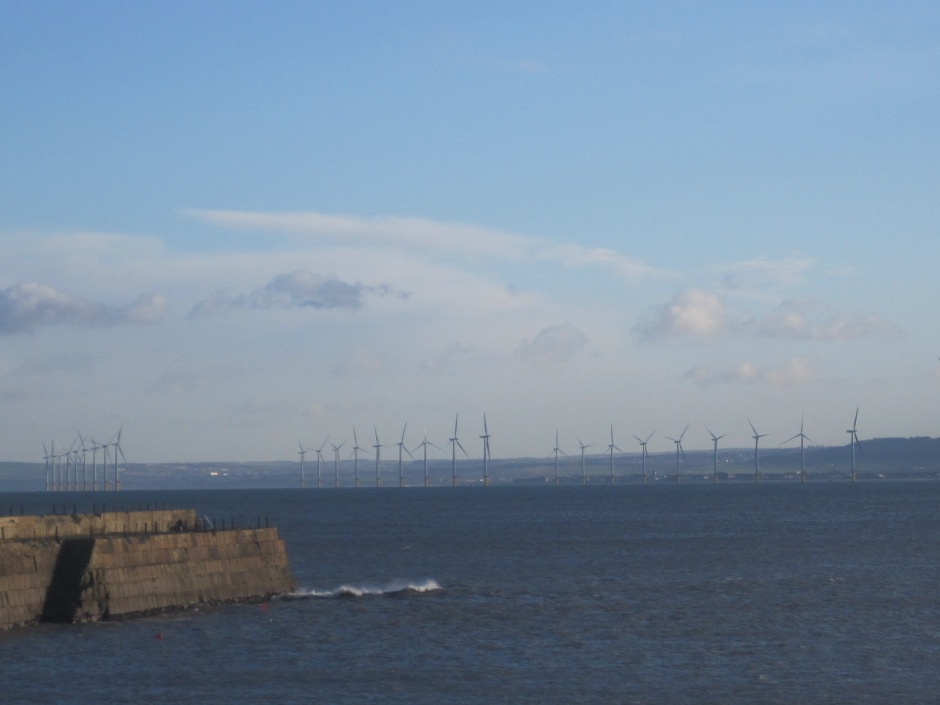 Those offshore windmills will be turning