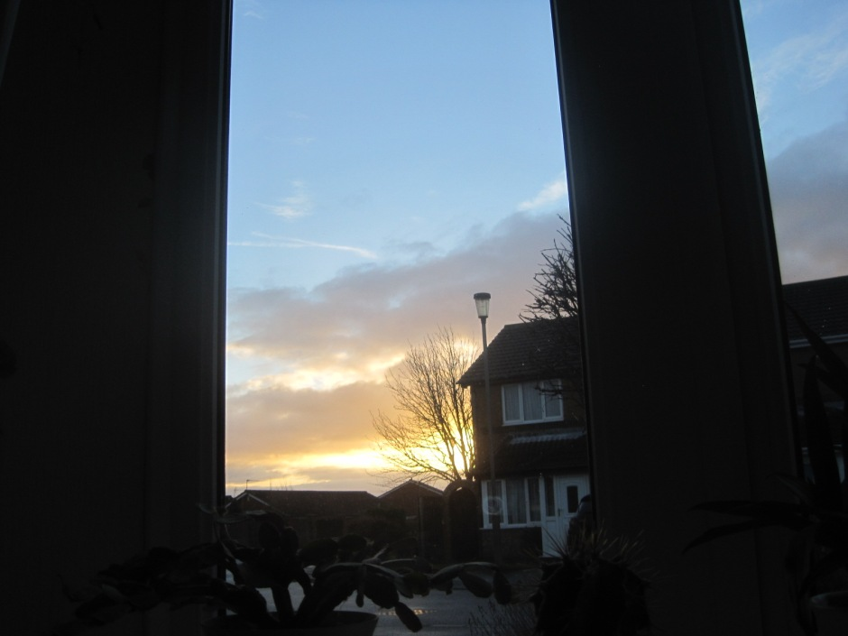 The morning looked promising through my front window