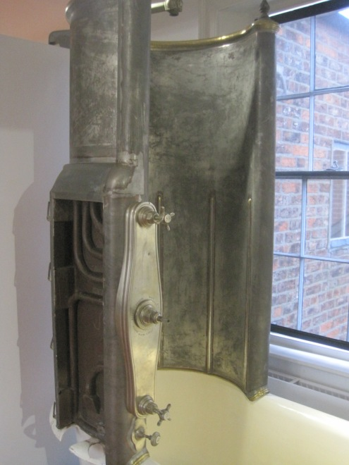 A Victorian bath and shower
