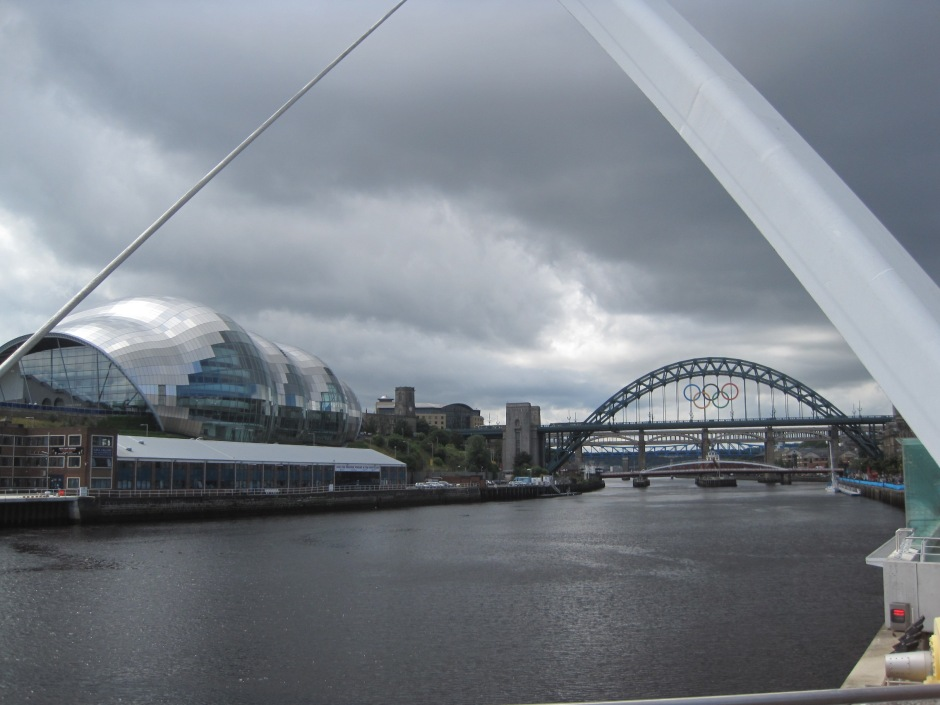 "Iconic Tyne Bridge viewed from the Millenium ""Eye"""