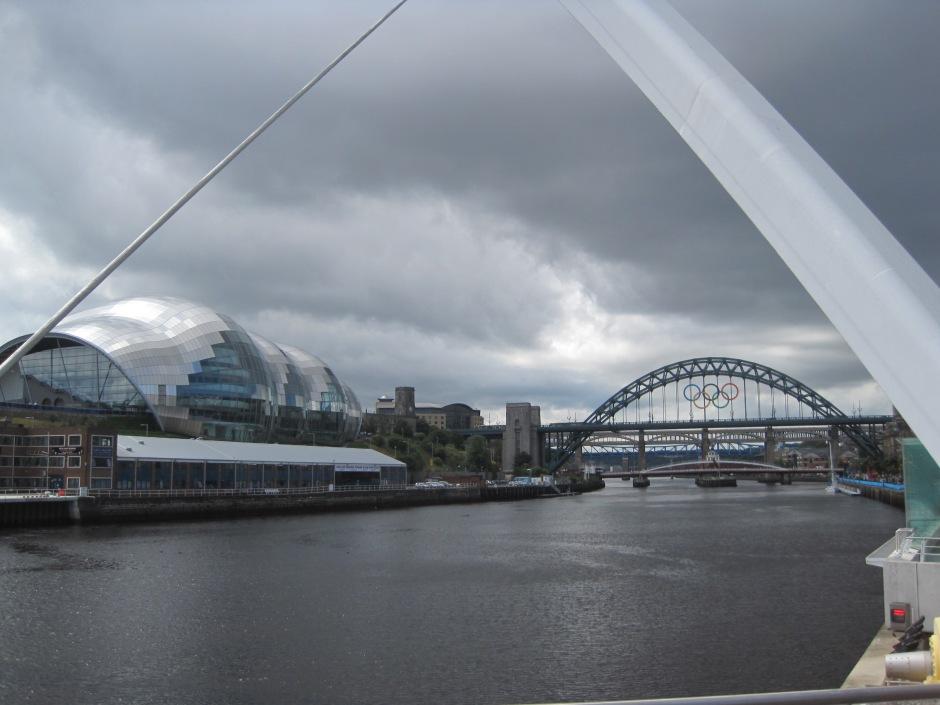 "Iconic Tyne Bridge viewed from the Millenium ""Eye"""
