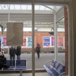 Looking out to the platform