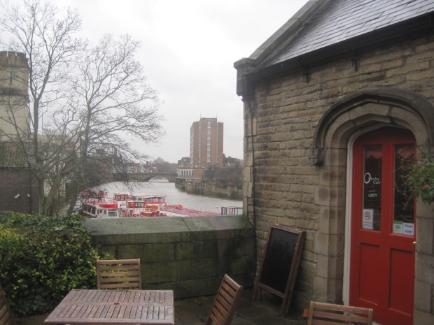 Not a day for sitting by the riverside!