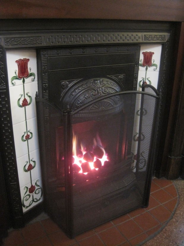 Nothing like a coal fire to dispel the blues!