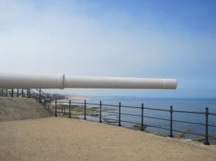 Can you see the pier in the far distance?