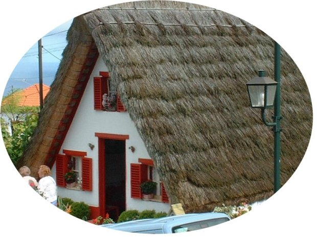 Thatched cottage-oval
