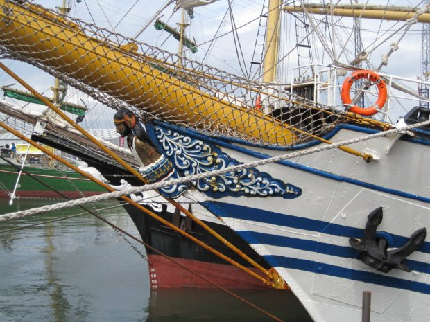 And a figurehead to charm the world