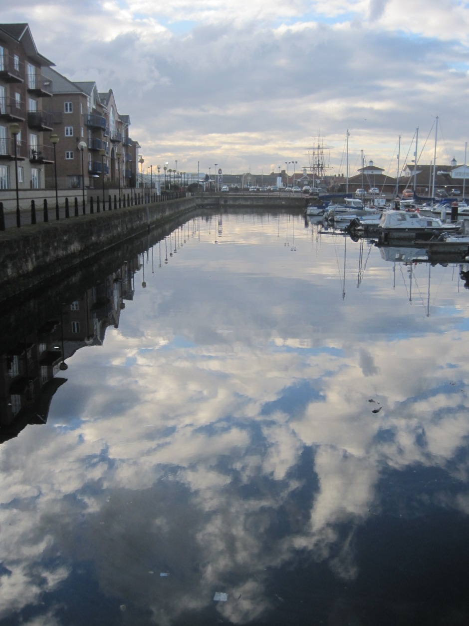 The heavens descend to Hartlepool marina!