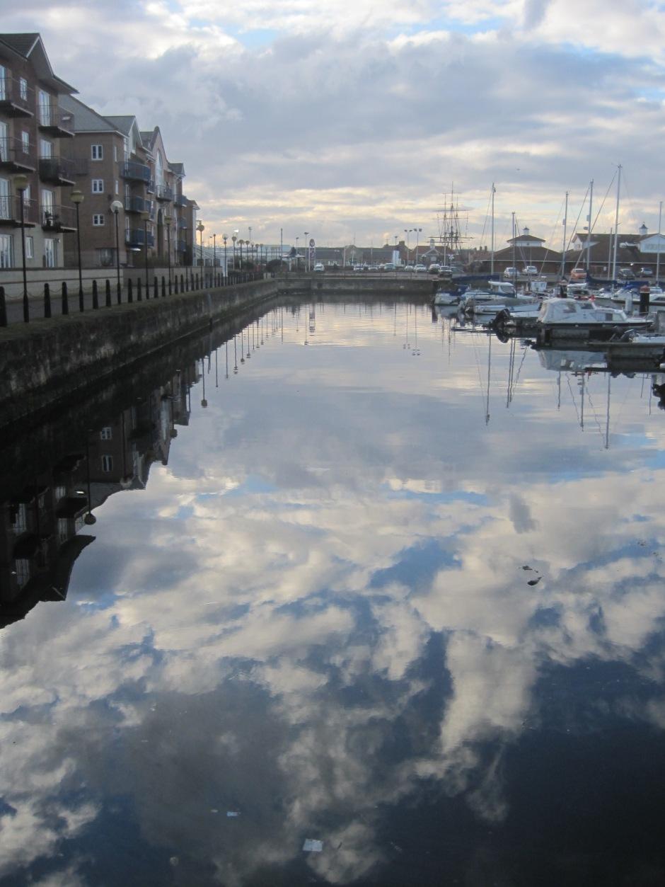 The heavens descend to Hartlepool marina!