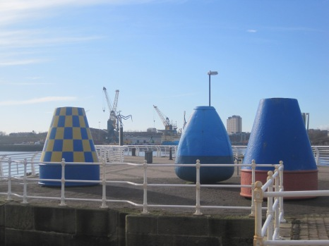 And there are colourful bollards on the quay