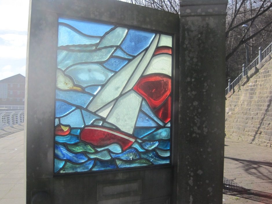 My favourite sculpture is the stained glass boat